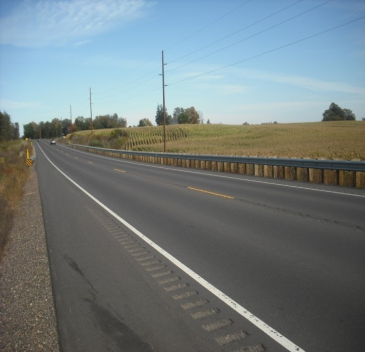 Completed PG modifier project on Wisconsin highway 55.